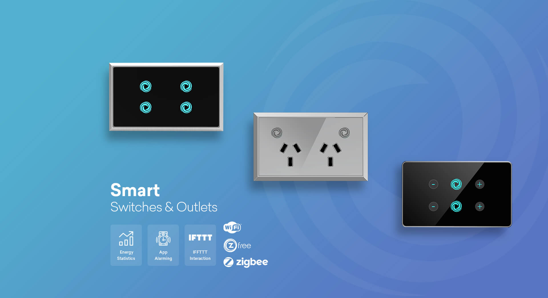 Smart home devices banner for switches